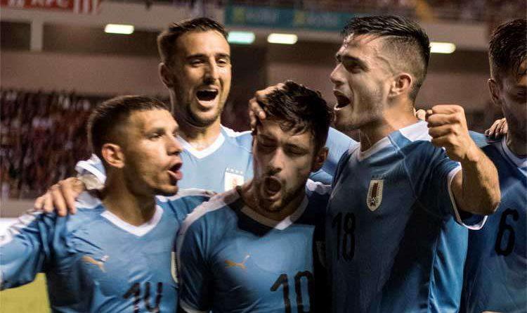 Sem Suárez e Cavani, Uruguai bate Costa Rica, por 2 a 1, com um gol de Arrascaeta